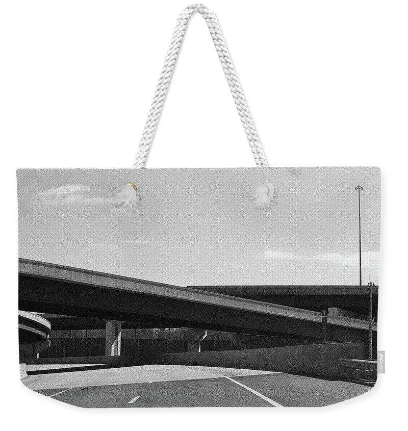 Film Scan Weekender Tote Bag featuring the photograph Overpass by Jacki Putnam