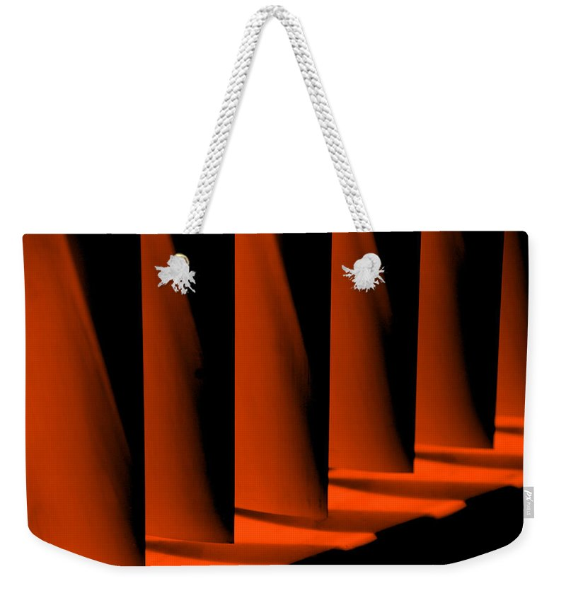 Red Weekender Tote Bag featuring the photograph Overview by Susanne Van Hulst
