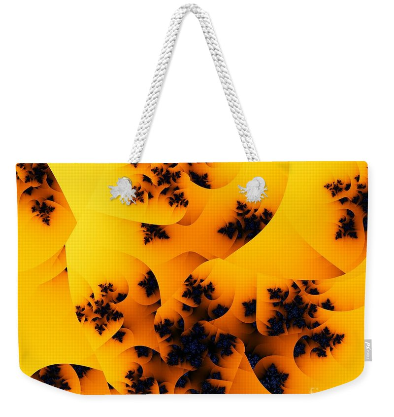 Fractal Art Weekender Tote Bag featuring the digital art Ovule by Ron Bissett