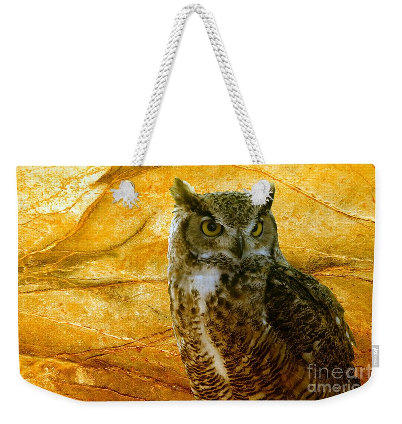 Animal Weekender Tote Bag featuring the photograph Owl by Teresa Zieba