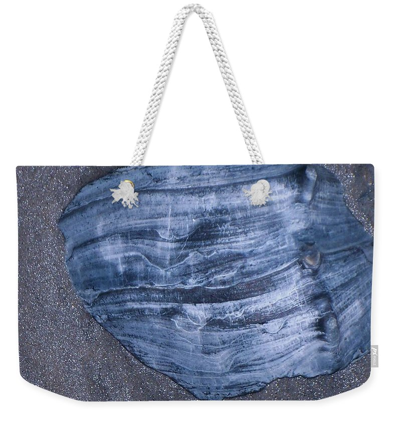 Texture Weekender Tote Bag featuring the painting Oyster Shell by Eric Schiabor