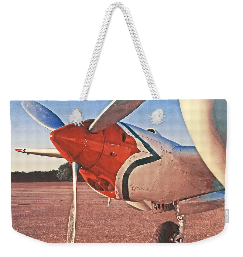 World War Ii Fighter Planes Weekender Tote Bag featuring the photograph P-38 Engine by Jim Smith