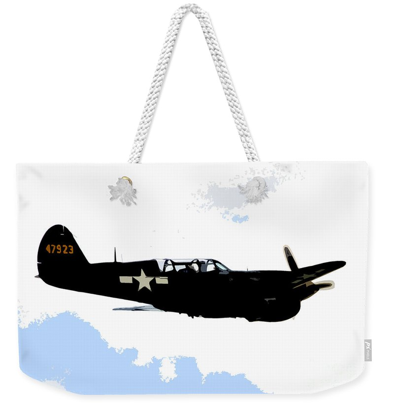 P 40 Weekender Tote Bag featuring the painting P 40 by David Lee Thompson