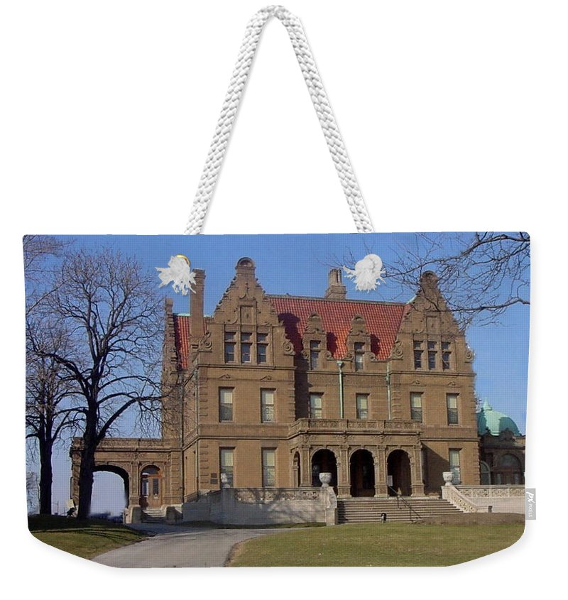 Pabst Mansion Weekender Tote Bag featuring the photograph Pabst Mansion Photo by Anita Burgermeister