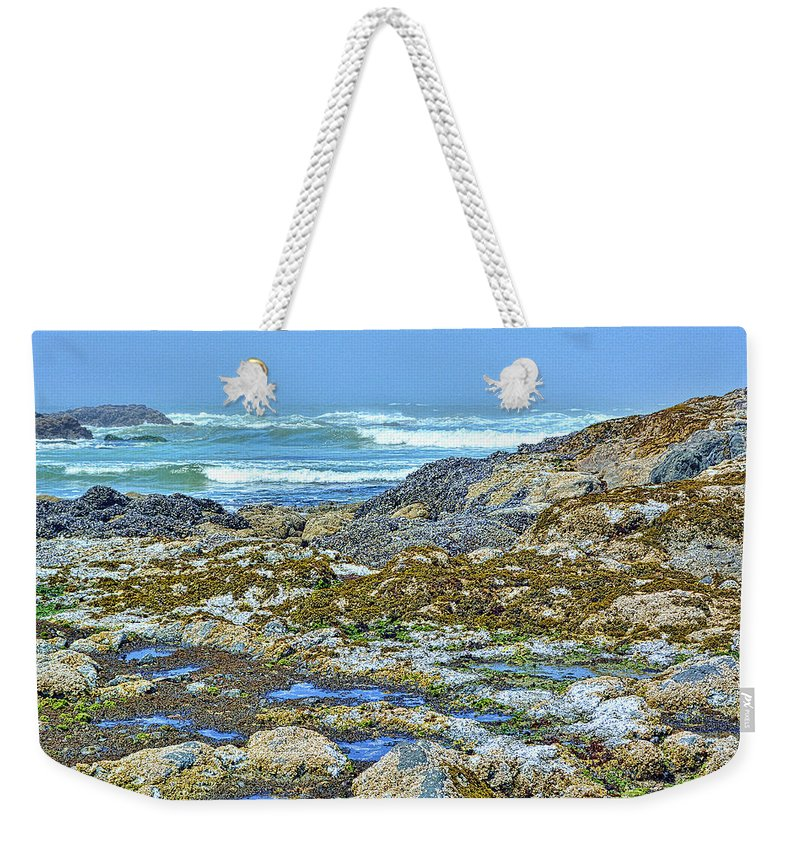 Pacific Weekender Tote Bag featuring the photograph Pacific Coast Tide Pools by Alan Steele