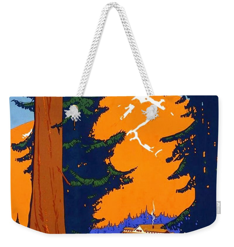 Pacific Northwest Weekender Tote Bag featuring the painting Pacific Northwest, American And Canadian Rockies, National Park by Long Shot