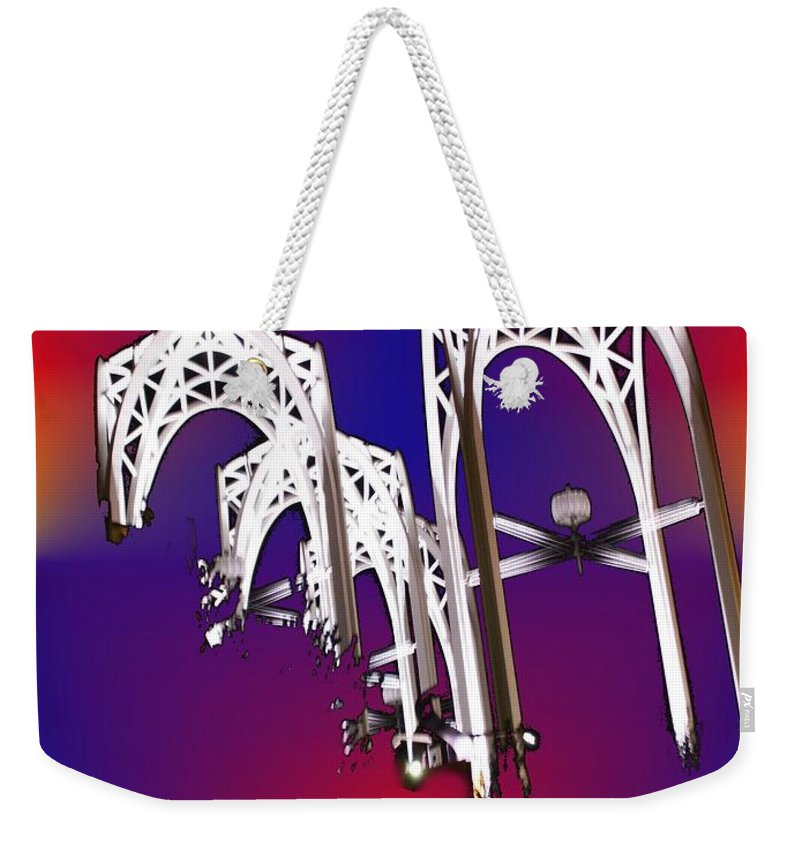 Seattle Weekender Tote Bag featuring the photograph Pacific Science Center Arches by Tim Allen