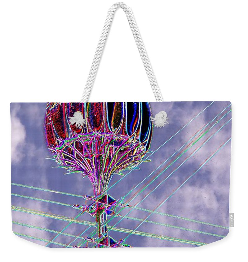 Seattle Weekender Tote Bag featuring the photograph Pacific Science Center Lamp 2 by Tim Allen