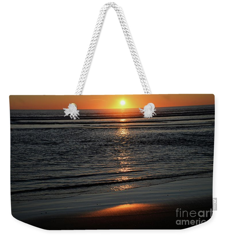 Denise Bruchman Weekender Tote Bag featuring the photograph Pacific Sunset by Denise Bruchman