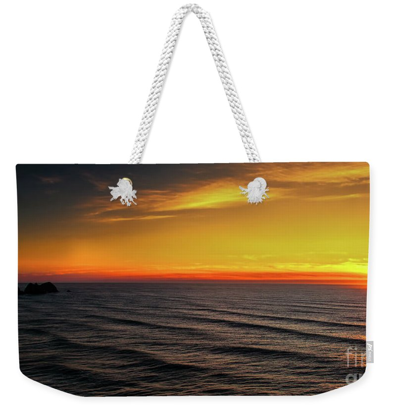 Jon Burch Weekender Tote Bag featuring the photograph Pacific Sunset by Jon Burch Photography