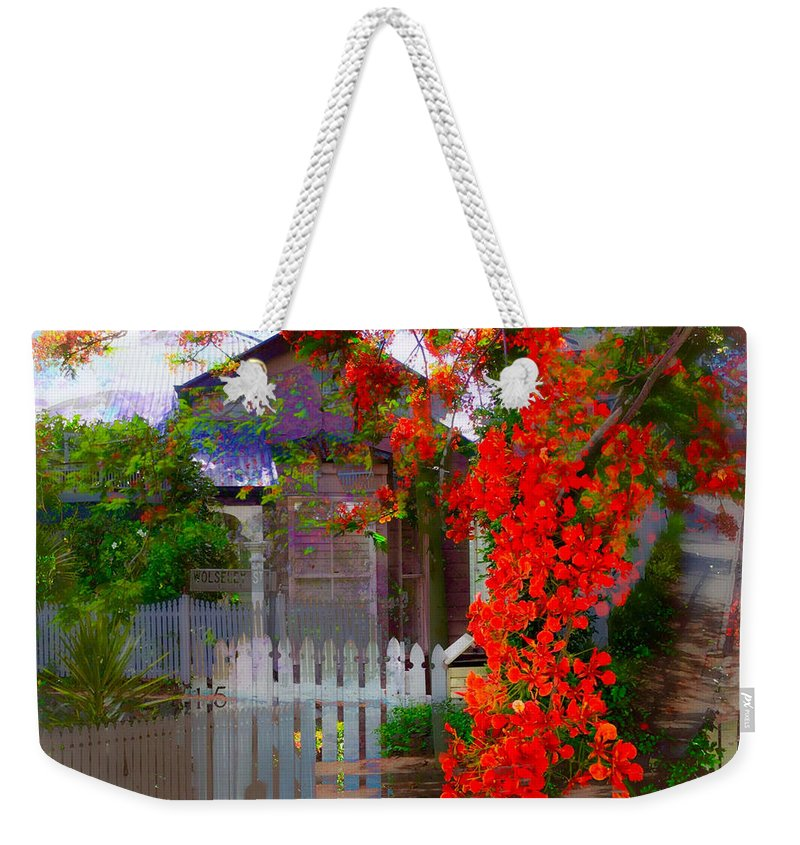 Queenslander Weekender Tote Bag featuring the photograph Paddington Montage by Anthony Robinson