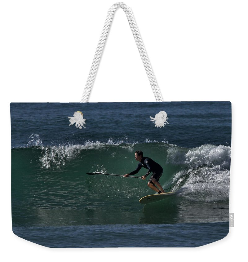 Surf Weekender Tote Bag featuring the photograph Paddleboarding 2 by Michael Gordon