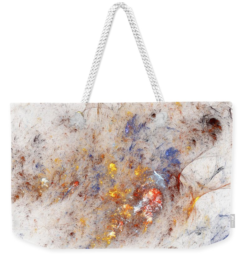 Abstract Weekender Tote Bag featuring the digital art Paean To Pollack by Casey Kotas