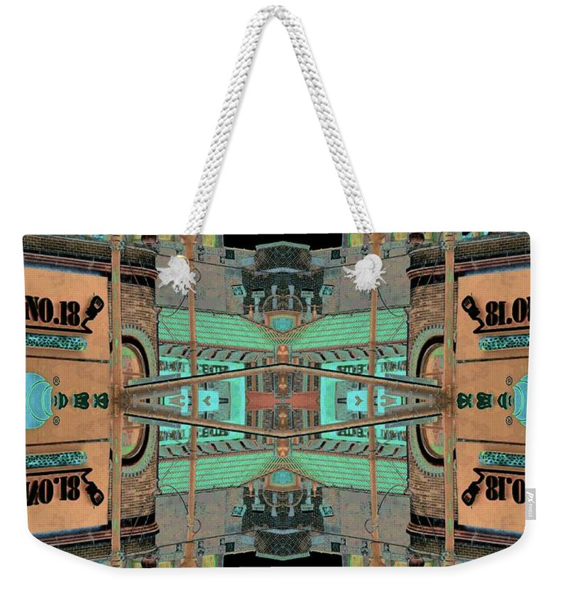 China Town Weekender Tote Bag featuring the photograph Pagoda Tower Becomes Chinese Lantern 1 Chinatown Chicago by Marianne Dow