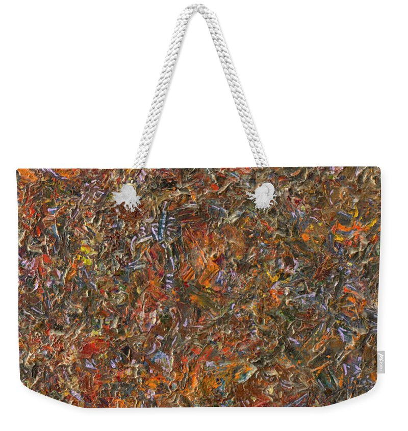Abstract Weekender Tote Bag featuring the painting Paint number 13 by James W Johnson