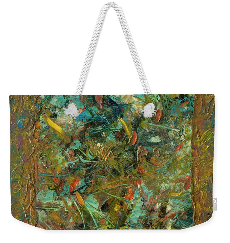 Abstract Weekender Tote Bag featuring the painting Paint Number 24 by James W Johnson