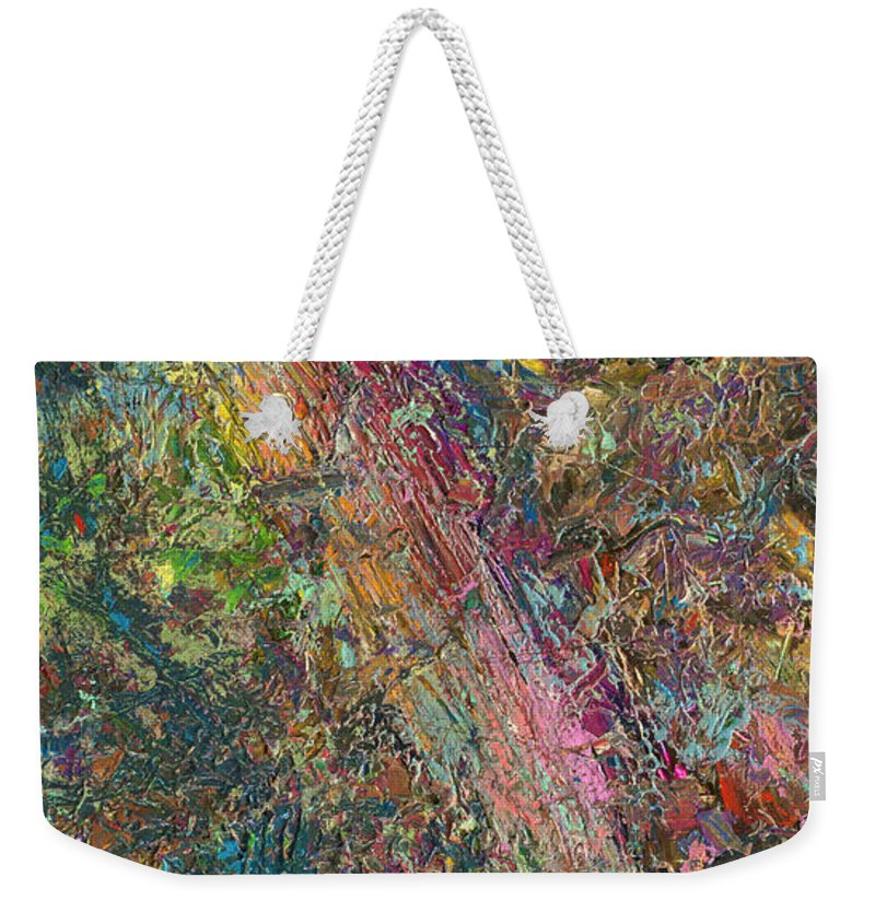 Abstract Weekender Tote Bag featuring the painting Paint Number 27 by James W Johnson