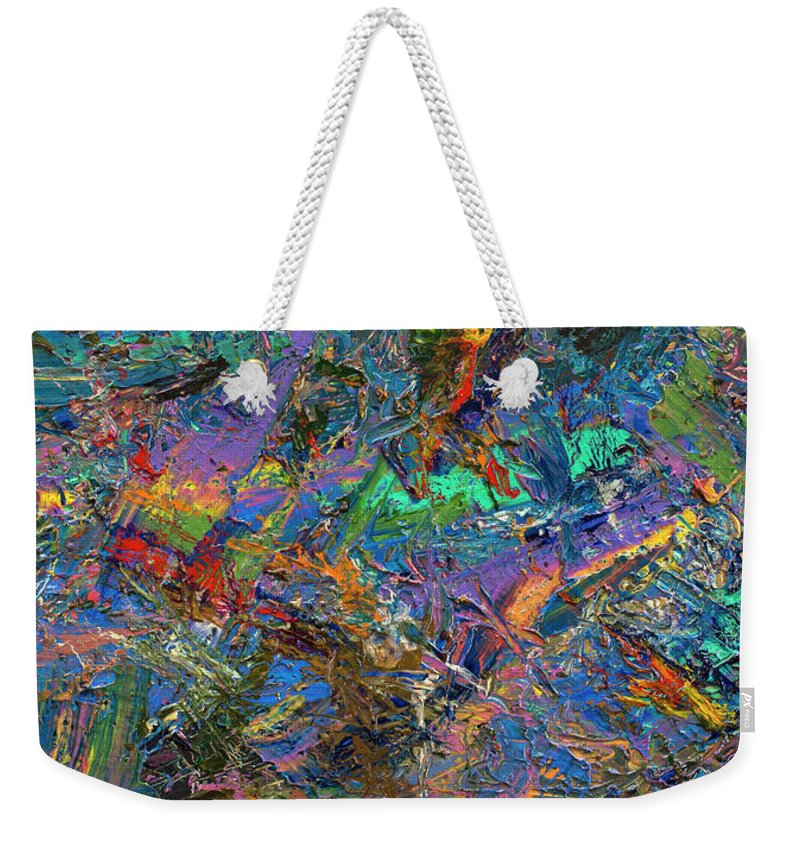 Abstract Weekender Tote Bag featuring the painting Paint Number 28 by James W Johnson