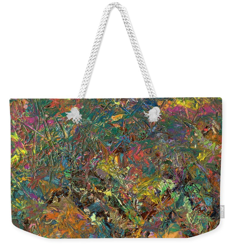Abstract Weekender Tote Bag featuring the painting Paint number 29 by James W Johnson