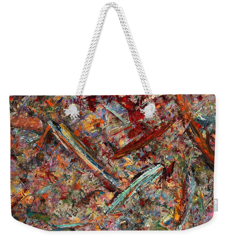 Abstract Weekender Tote Bag featuring the painting Paint number 30 by James W Johnson