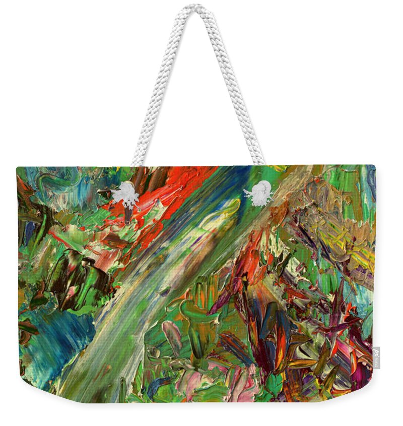 Abstract Weekender Tote Bag featuring the painting Paint number 32 by James W Johnson