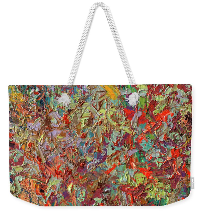 Abstract Expressionism Weekender Tote Bags
