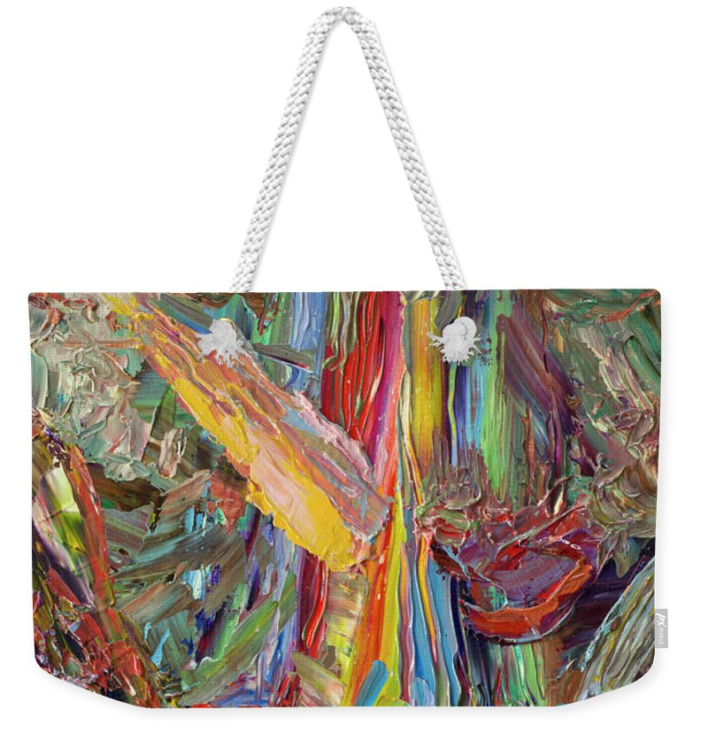 Abstract Weekender Tote Bag featuring the painting Paint number 40 by James W Johnson