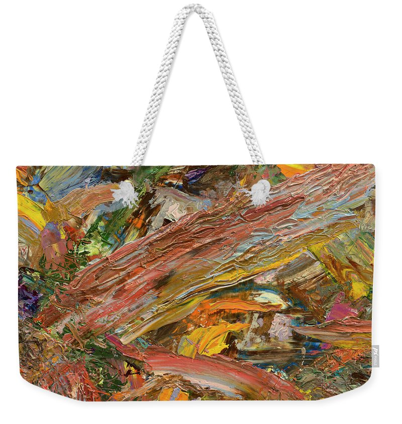Abstract Weekender Tote Bag featuring the painting Paint number 41 by James W Johnson