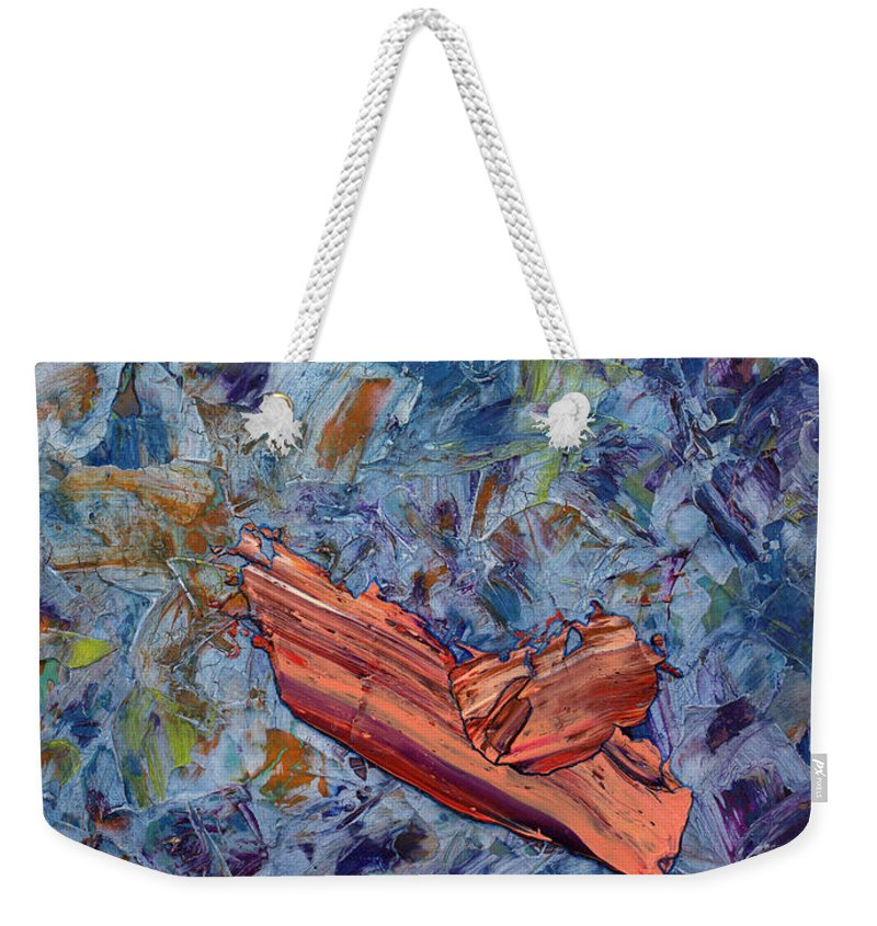 Abstract Weekender Tote Bag featuring the painting Paint number 62 by James W Johnson
