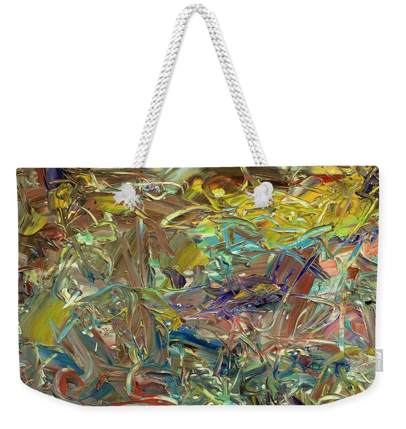Abstract Weekender Tote Bag featuring the painting Paint number46 by James W Johnson