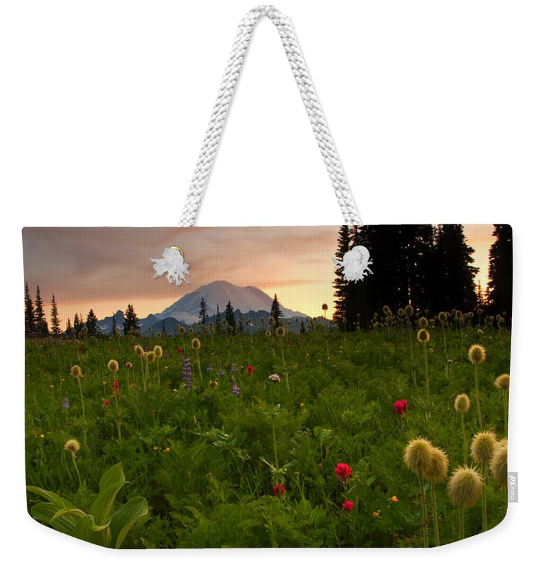 Sunset Weekender Tote Bag featuring the photograph Paintbrush Sunset by Mike Dawson