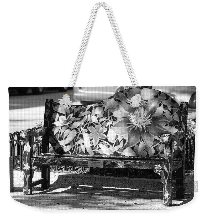 Pop Art Weekender Tote Bag featuring the photograph Painted Bench by Rob Hans
