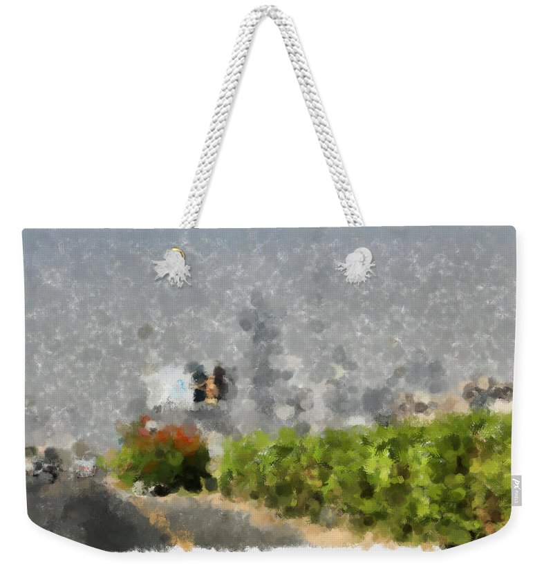 Abstract Weekender Tote Bag featuring the photograph Painted Bushes by Ashish Agarwal