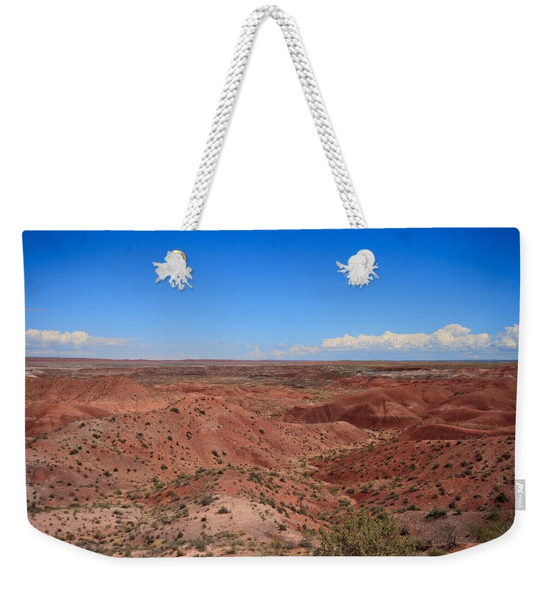 Painted Weekender Tote Bag featuring the photograph Painted Desert #6 by Robert J Caputo