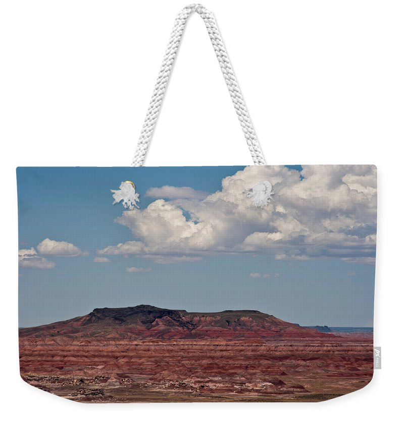 Painted Weekender Tote Bag featuring the photograph Painted Desert #8 by Robert J Caputo