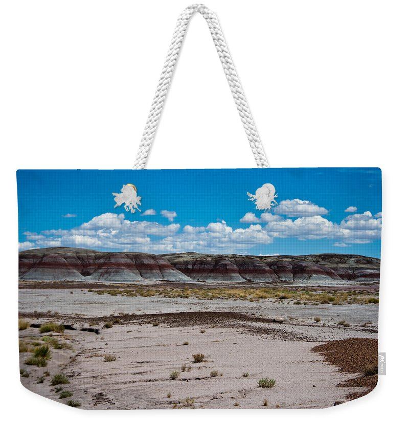 Painted Weekender Tote Bag featuring the photograph Painted Desert by Robert J Caputo