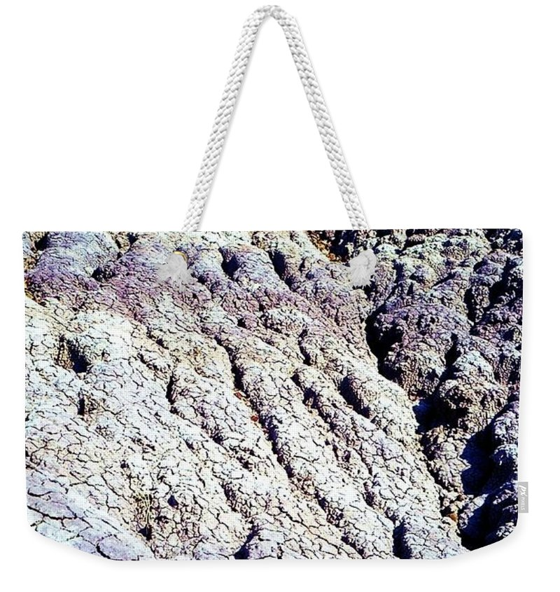 Painted Desert Weekender Tote Bag featuring the photograph Painted Desert by Ron Bissett