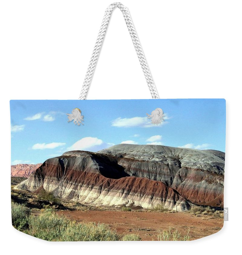 Arizona Weekender Tote Bag featuring the photograph Painted Desert by Will Borden