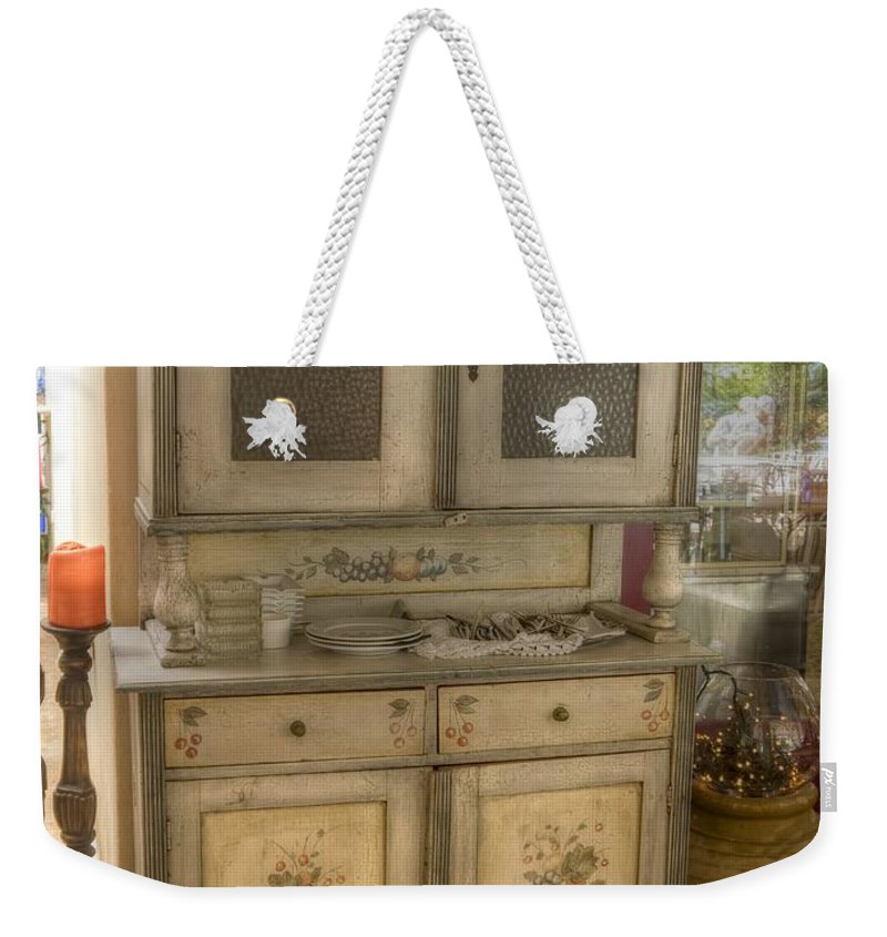 Painted Weekender Tote Bag featuring the photograph Painted Dresser by Gillian Singleton