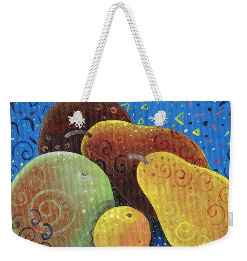 Fruit Weekender Tote Bag featuring the painting Painted Fruit by Helena Tiainen