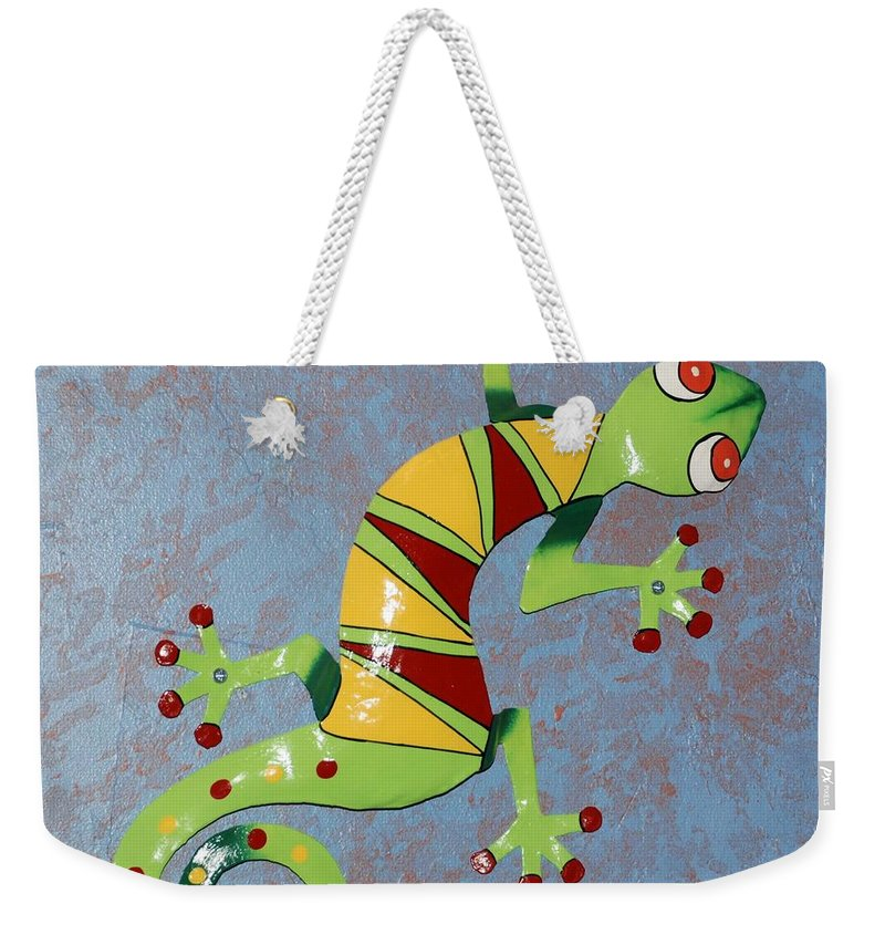 Southwestern Art Weekender Tote Bag featuring the photograph Painted Liz by Rob Hans