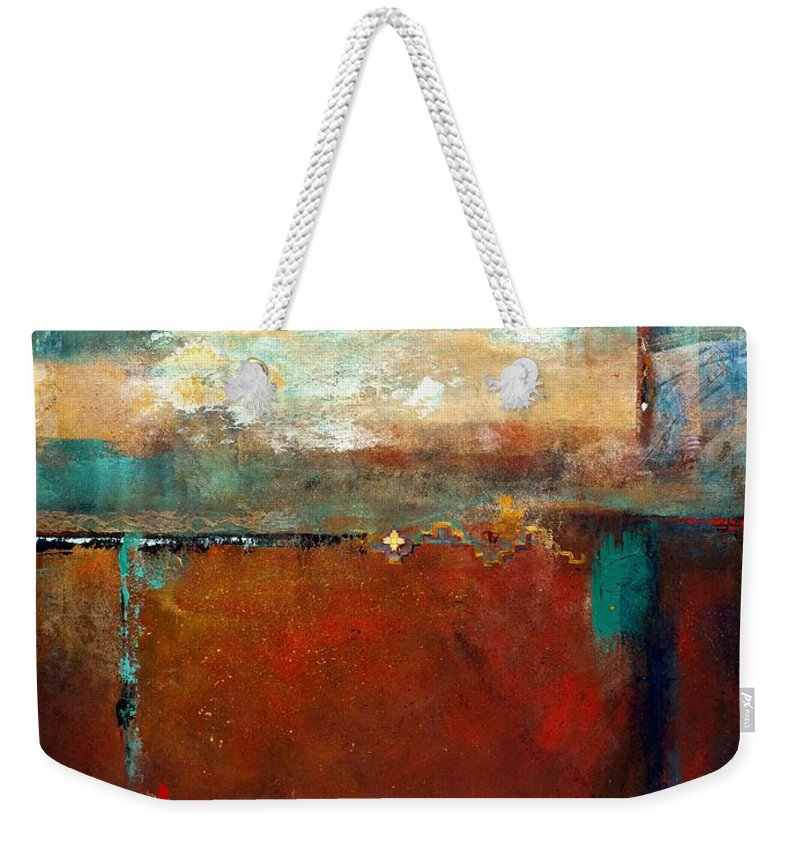 Horses Weekender Tote Bag featuring the painting Painted Ponies by Frances Marino