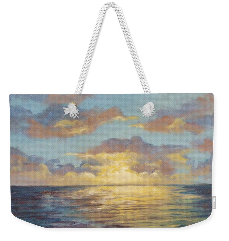 Sunset Weekender Tote Bag featuring the painting Painted Sunset by Kimberly Benedict