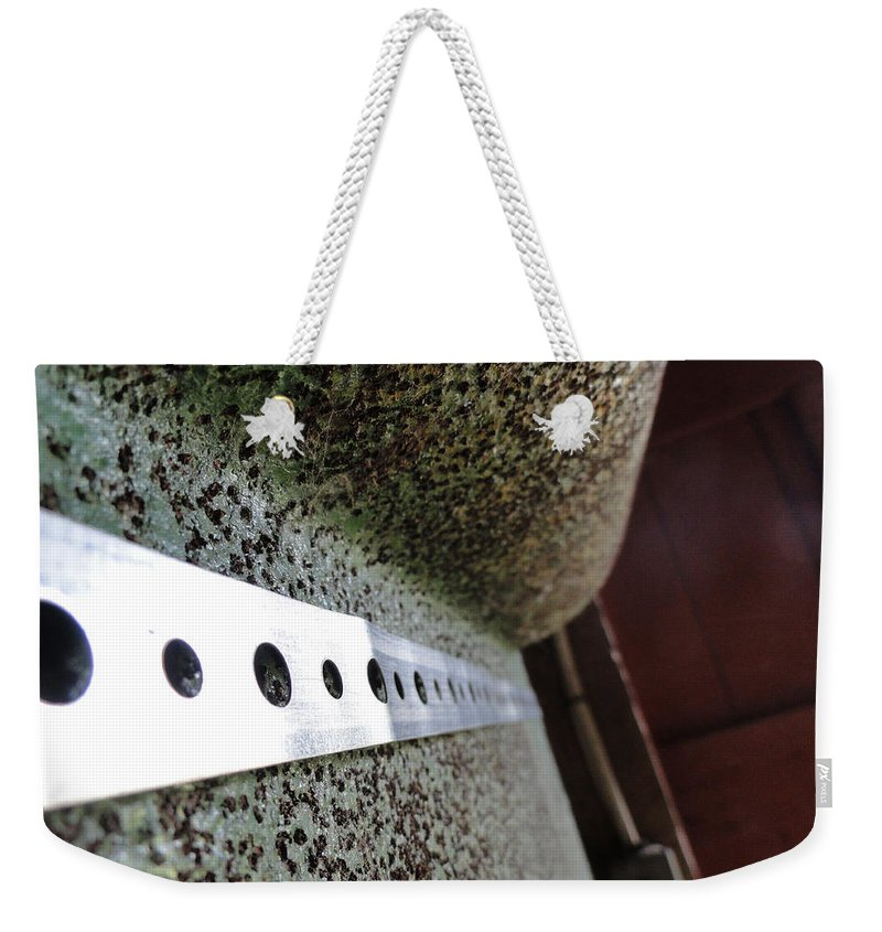 Abstract Weekender Tote Bag featuring the photograph Painted Textured by Trish Hale