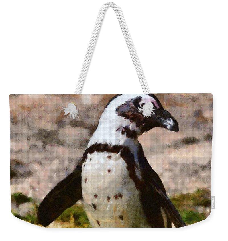African Penguin Weekender Tote Bags