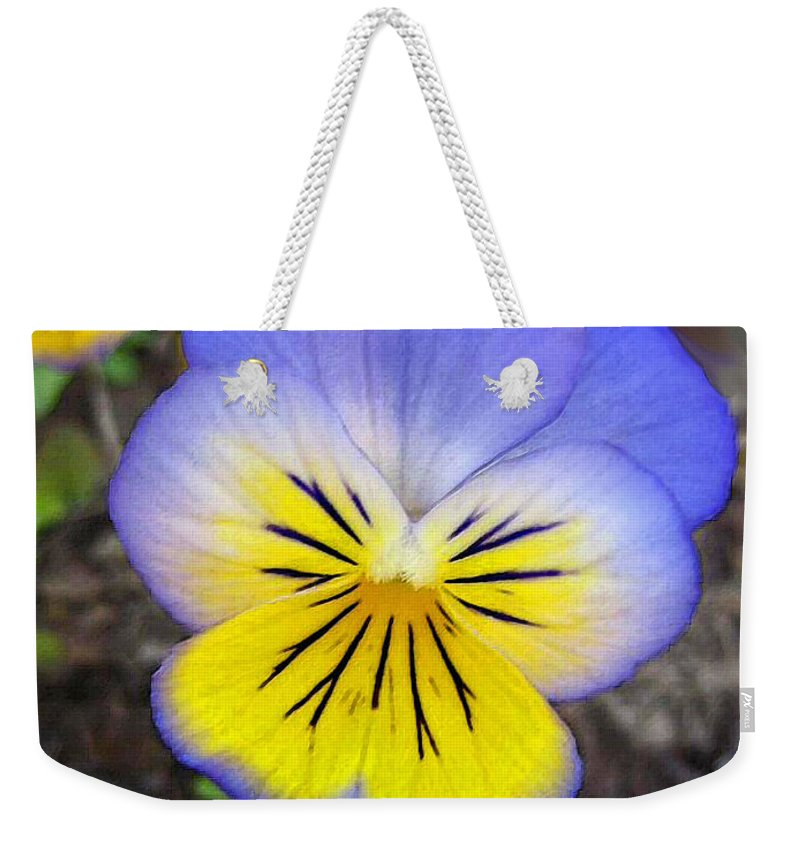 Flower Weekender Tote Bag featuring the painting Painting Of Pansey Flower by Susanna Katherine