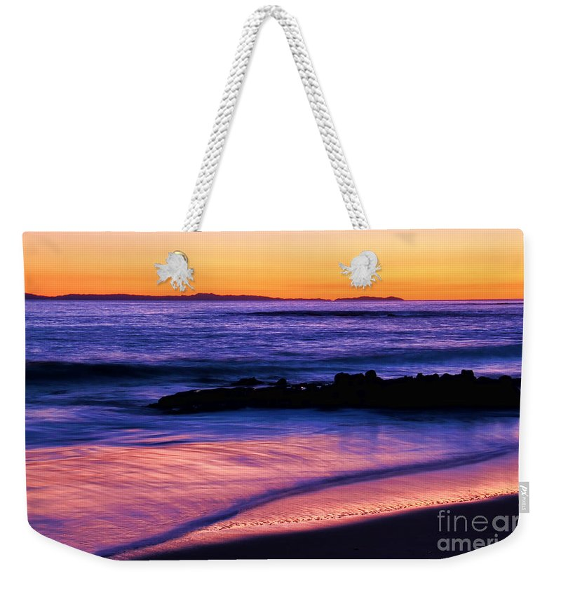 Weekender Tote Bag featuring the photograph Painting The Ocean by Mariola Bitner