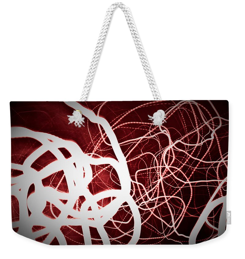 Painting With Light Weekender Tote Bag featuring the photograph Painting With Light 1 by Julie Niemela
