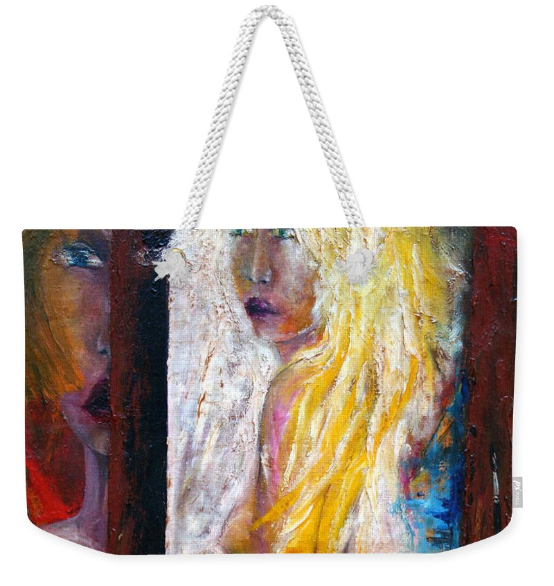 Imagination Weekender Tote Bag featuring the painting Painting by Wojtek Kowalski