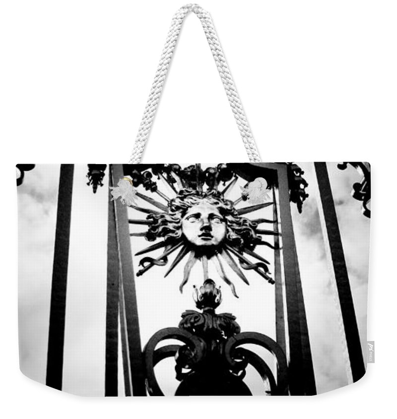 London Weekender Tote Bag featuring the photograph Palace Gate by Amanda Barcon